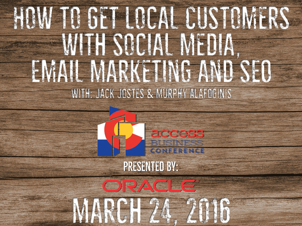 How To Get Local Customers With Social Media, Email Marketing, & SEO [event]