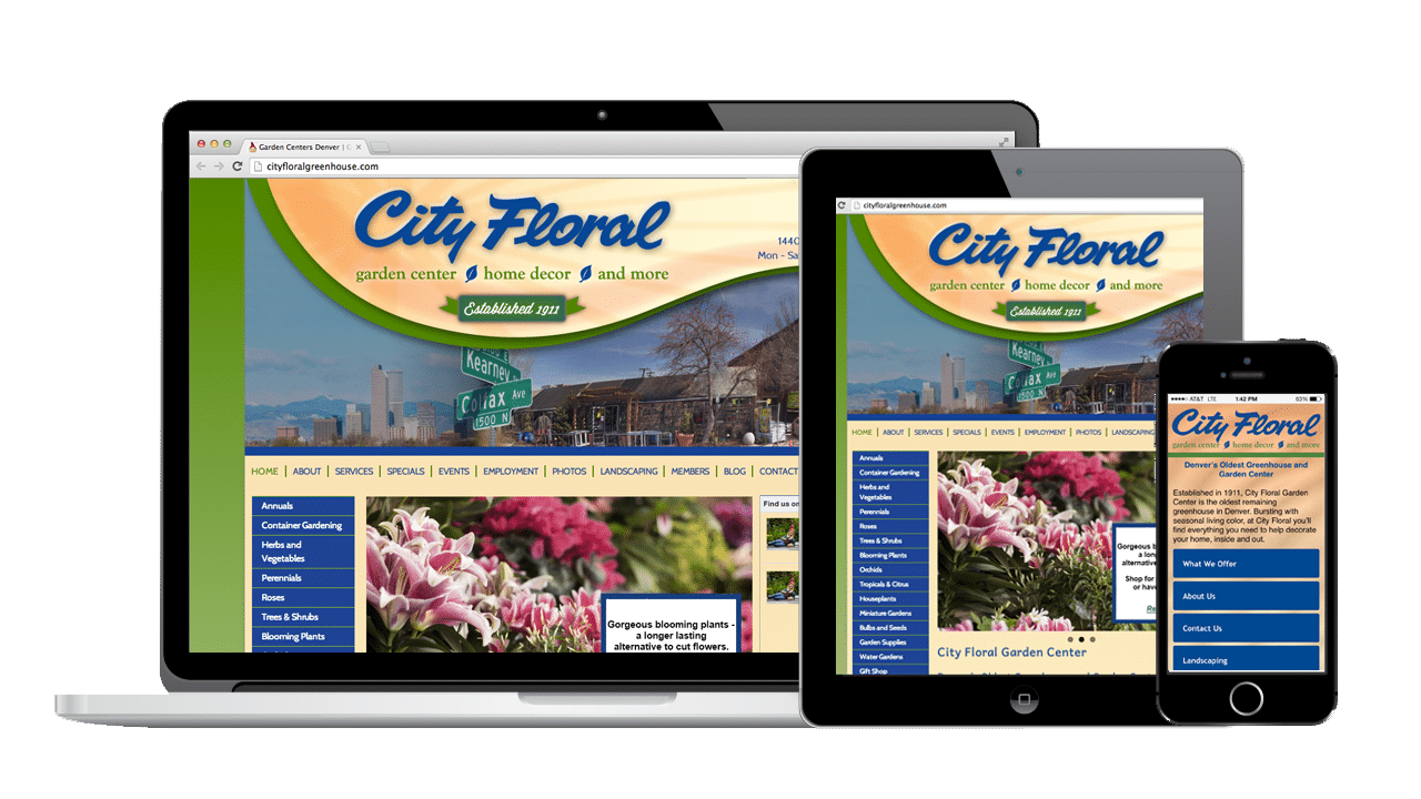 Garden Center Website Design SEO