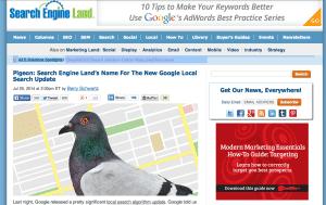 Google Pigeon Update