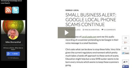 Google Business Scam