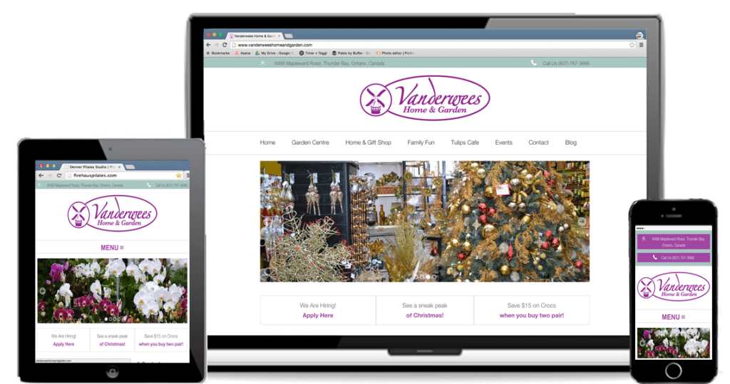 Vanderwees Home and Garden: Local SEO and Responsive WordPress Website Project