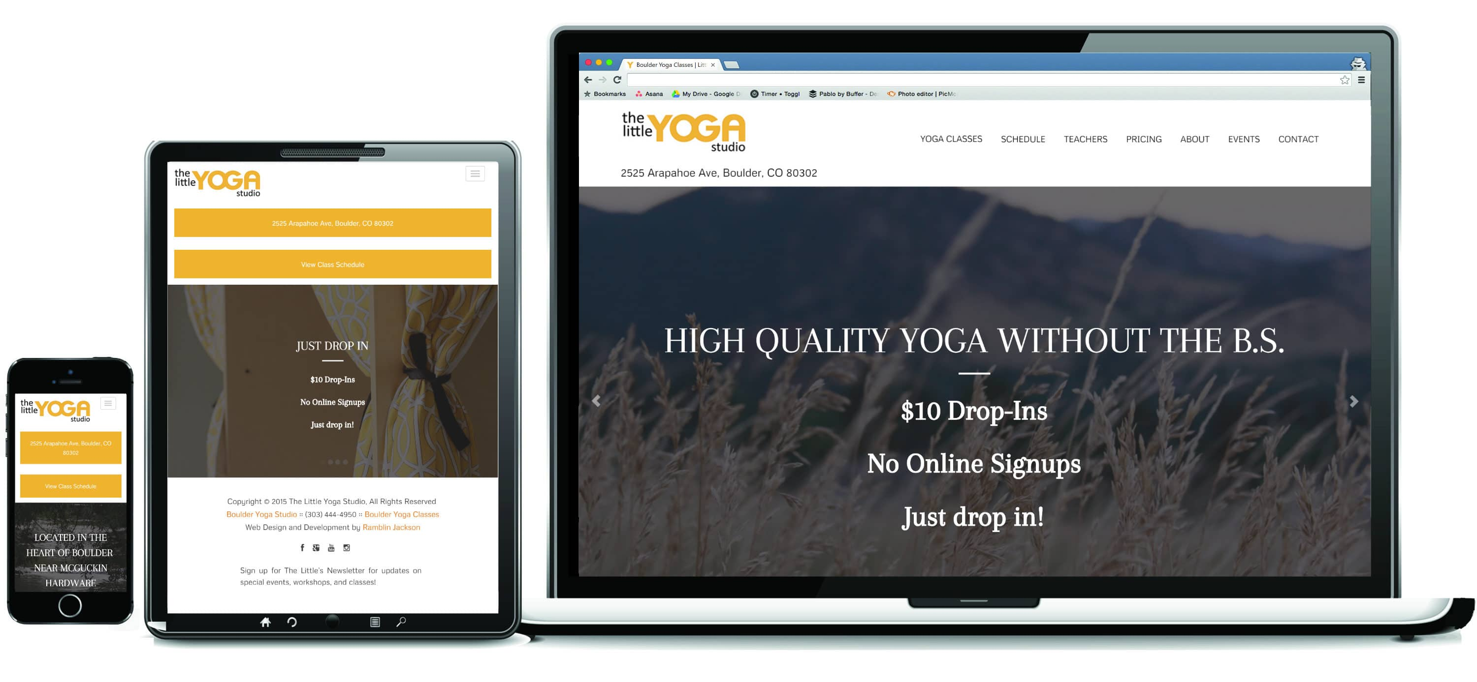The Little Yoga Studio Portfolio
