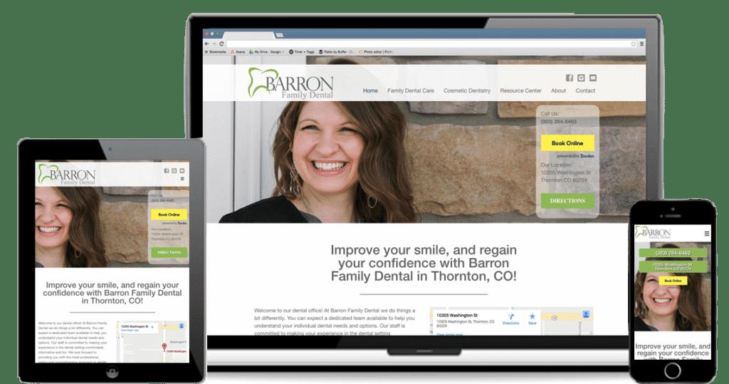 Barron Family Dental: Responsive WordPress Website Design