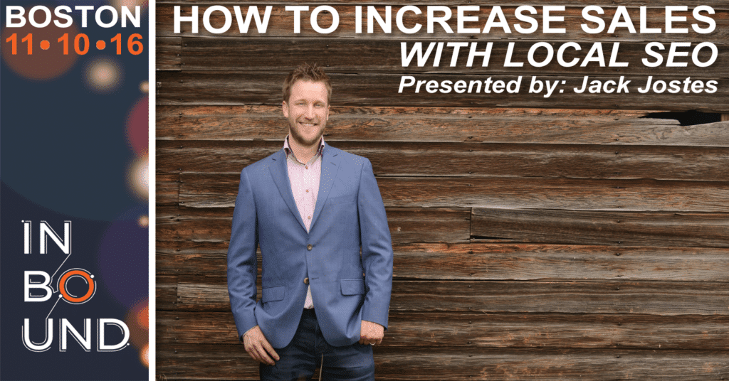 INBOUND 2016 – How To Increase Sales With Local SEO [event]