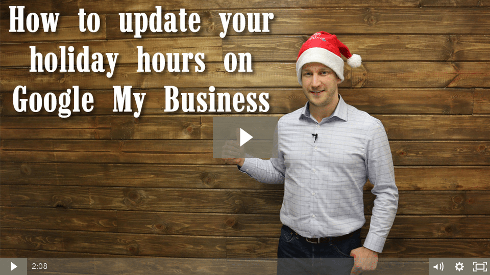 How to update your holiday hours on Google My Business… [video]