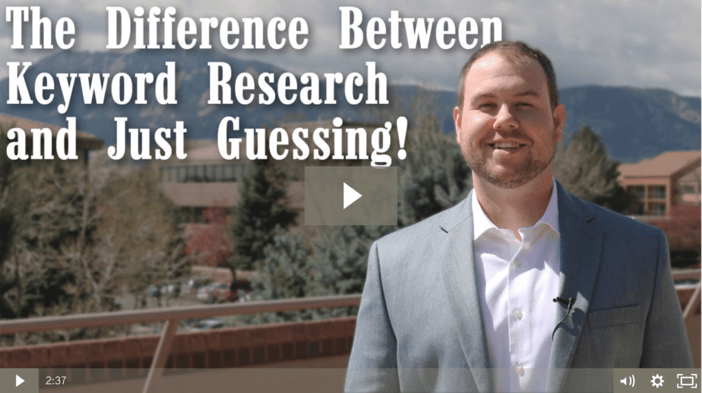 The Difference between Keyword Research and Guessing!