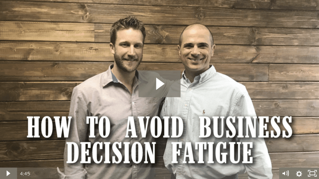 How To Avoid Business Decision Fatigue  [video]