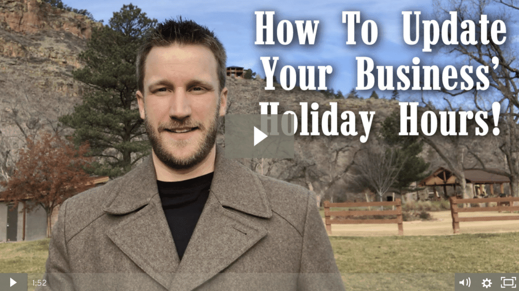 Local SEO: How To Update Holiday/Special Hours on Google My Business and Yelp [video]