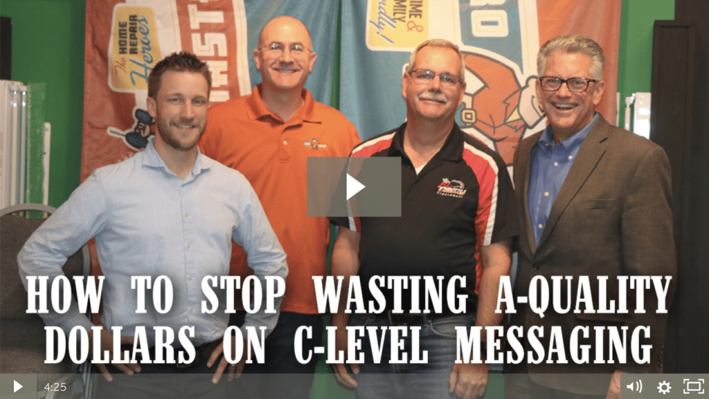 How to Stop Wasting A-quality Dollars on C-Level Messaging [video]