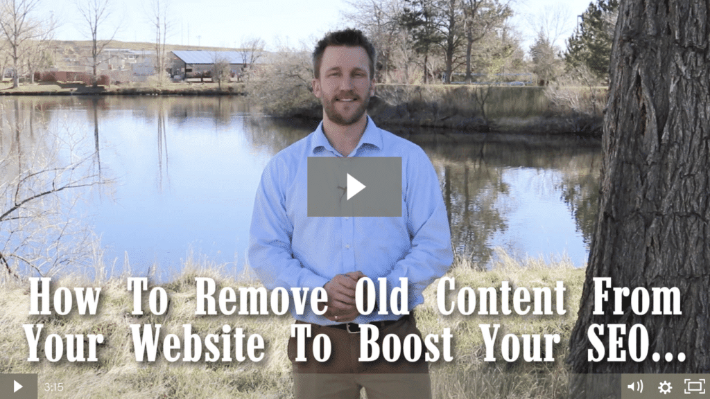 How To Remove Old Content From Your Website To Boost Your SEO [video]