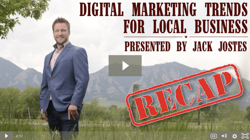 Digital Marketing Trends for Local Business Workshop Recap [video]