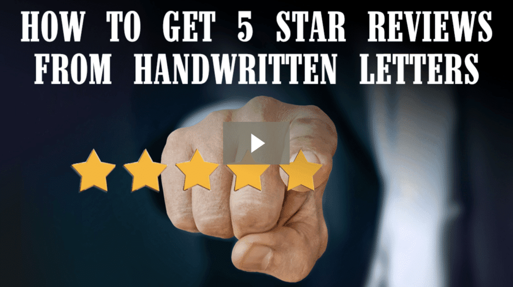How to Get 5 Star Reviews from Handwritten Letters