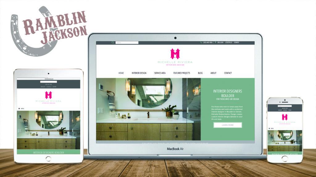 Michelle Riviera Interior Design: Responsive WordPress Website Design