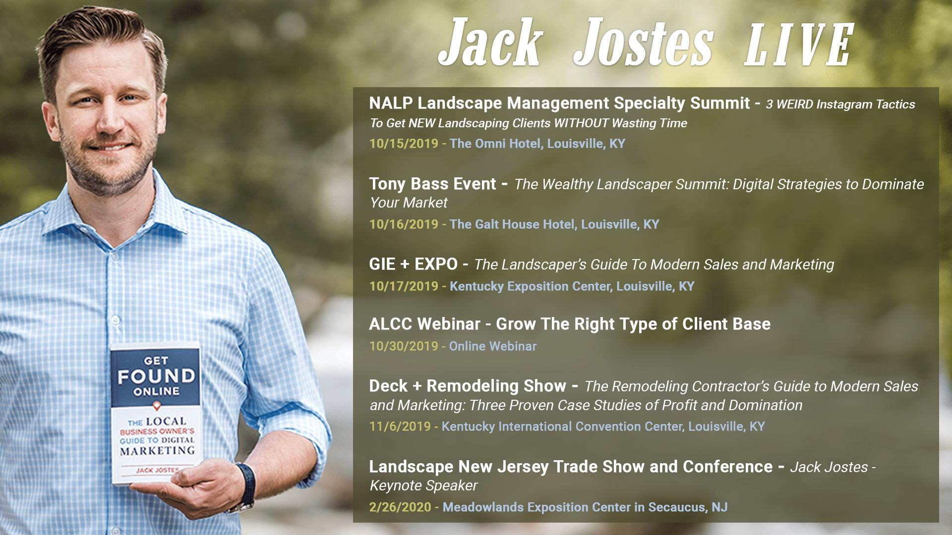 Jack Jostes Speaking LIVE