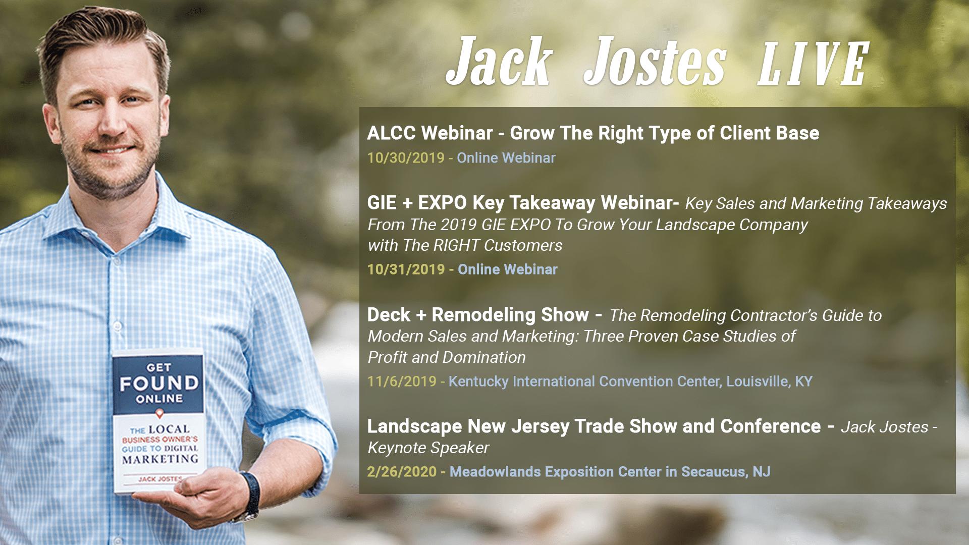 Jack Jostes Speaking LIVE 2019-10-28