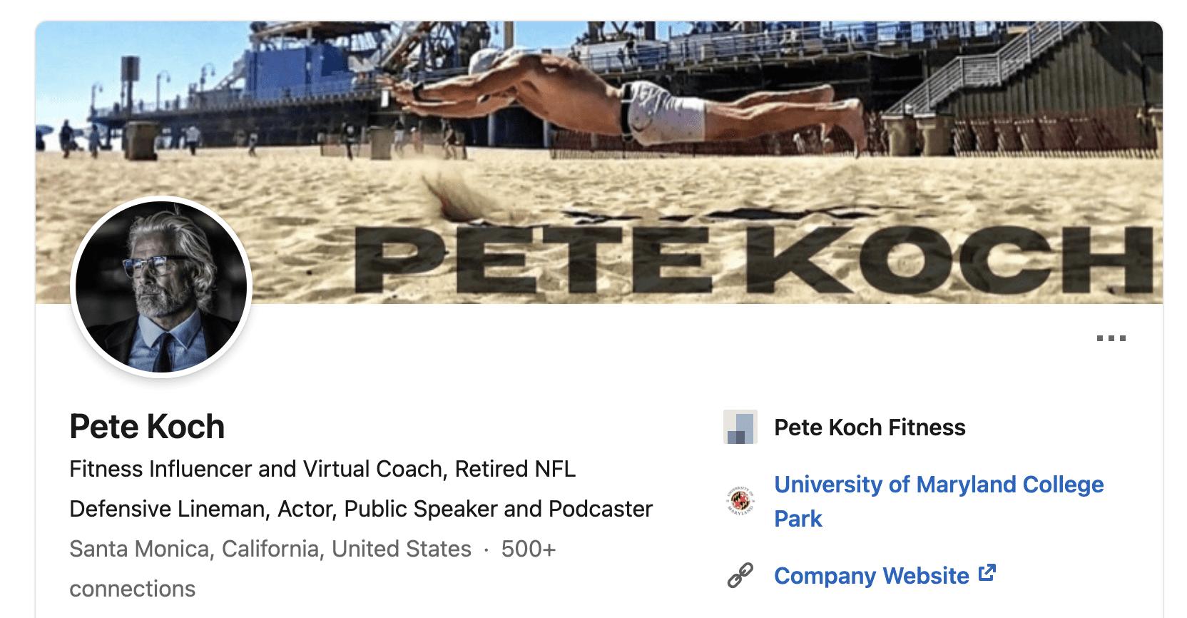 Pete Koch LinkedIn
